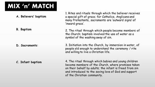 GCSE RS AQA A - Baptism