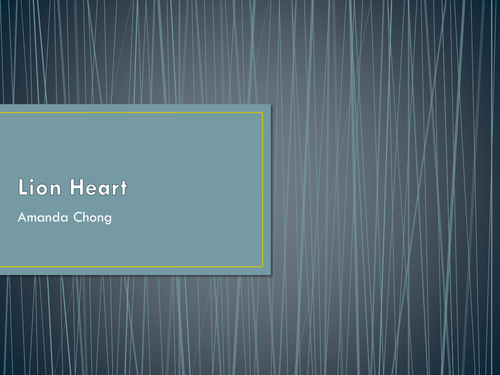 lionheart - a poem by Amanda Chong