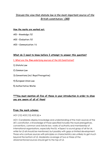 characteristics of british constitution