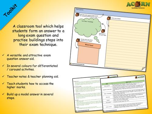 Exam question technique sheet