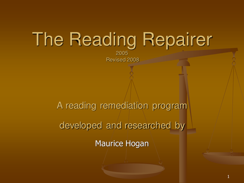 The Reading Repairer PowerPoint