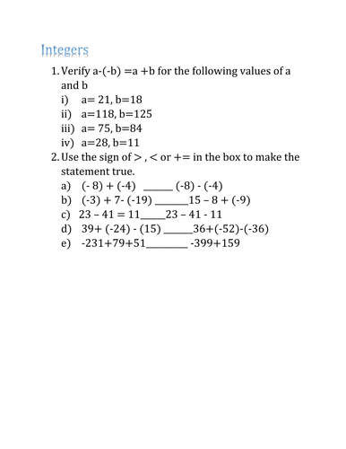 KS3 Maths Revision worksheets with answers