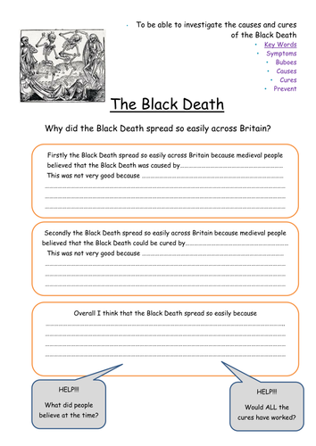 The Black Death Lesson and resources aimed at year 7