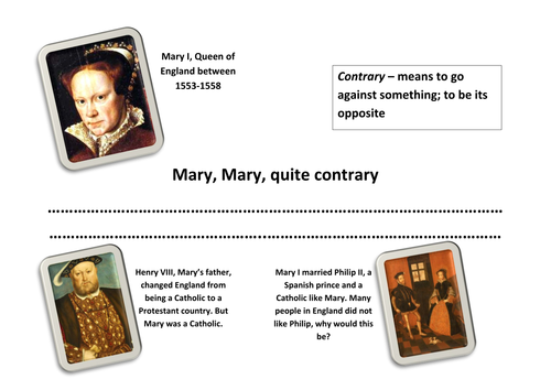Tudors Bloody Mary Lesson and Resources