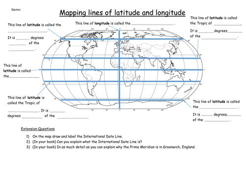 Latitude and Longitude Worksheet by KatieMaria Teaching – Latitude and Longitude Worksheets
