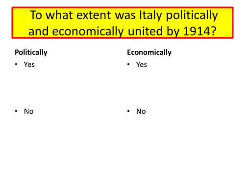 Italy and Fascism - Impact of WWI