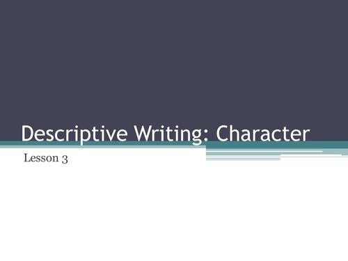 3 Descriptive Writing Lessons KS3