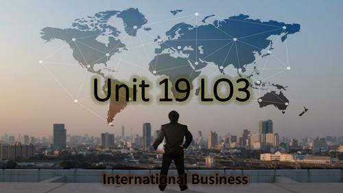CTEC Business Studies 2016 Unit 19 LO3 Help Sheet