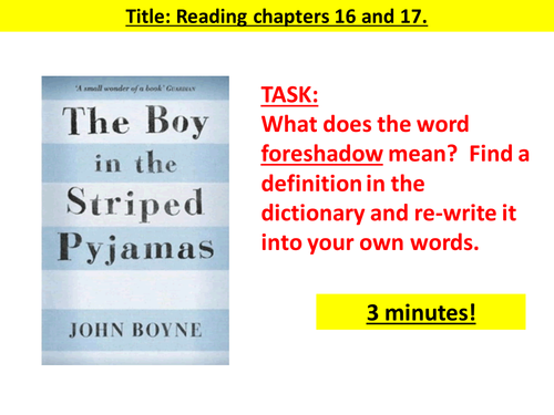 The Boy In The Striped Pyjamas Chapters 16 20 By Morris13