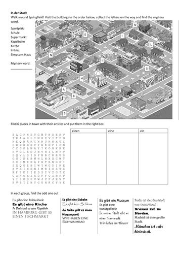 Stimmt! 1 town puzzles – In der Stadt