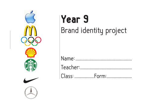Brand Identity Scheme of work and activity files
