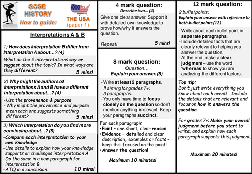 Understanding the Modern World exam question 'How To Guide' new AQA GCSE