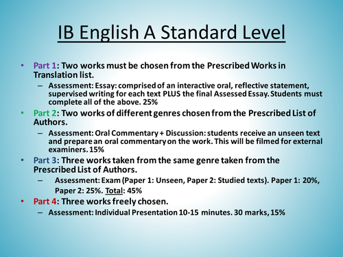 oral commentary tips for ib english