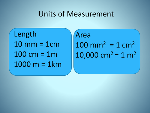 Units of Measure ( Metric & Imperial)