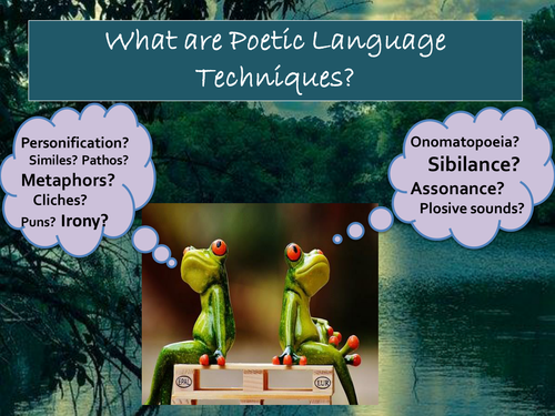 NEW! 36 POETIC LANGUAGE TECHNIQUES – DEFINITIONS, EXAMPLES, EFFECTS