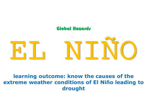 new OCR spec B - GLOBAL HAZARDS - L7 - El Nino
