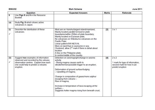 new OCR spec B - GLOBAL HAZARDS - L12 End of unit assessemnt