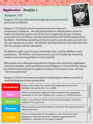 Psychology Aggression Revision/Application Lesson