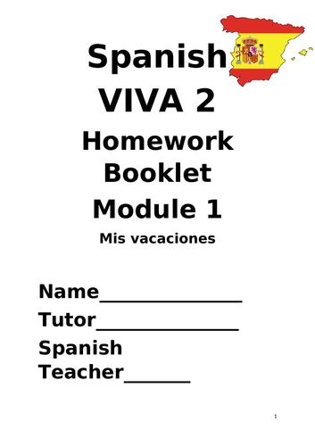 Y8 Mis vacaciones (Revision booklet)