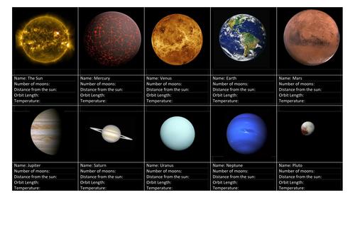 Solar Top Trumps Frame (Ph.19.)