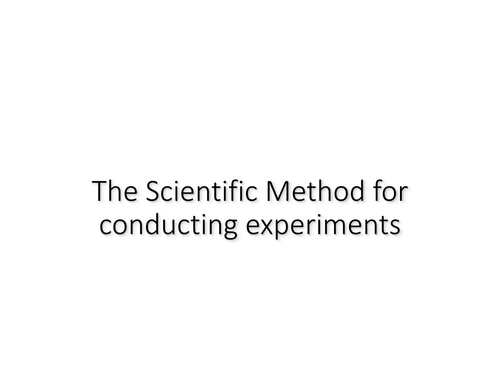 The scientific method for conducting experiments