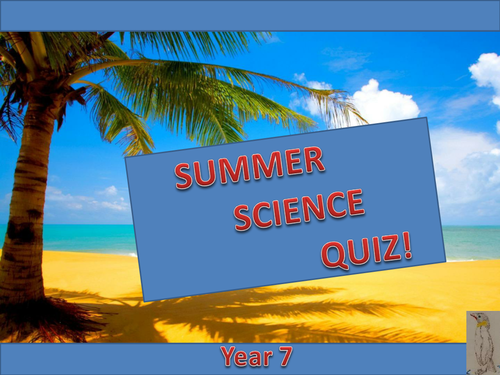 KS3 Summer Science Fun Quiz (with blind Robot challenge!)