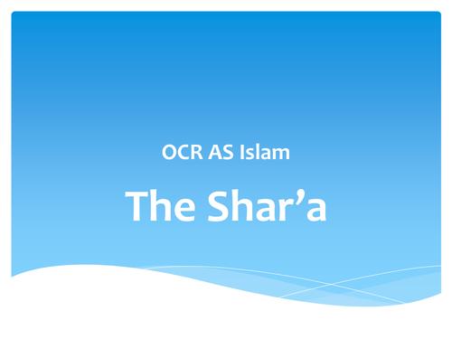 OCR AS Islam - Shari'a law