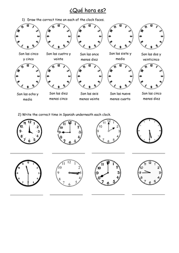 KS3 - Telling the Time in Spanish