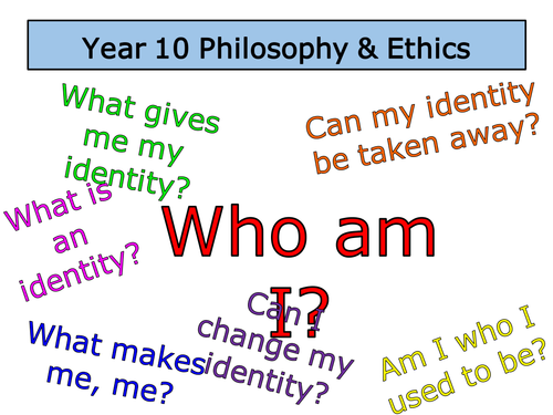Who am I? - Excellent lesson on identity