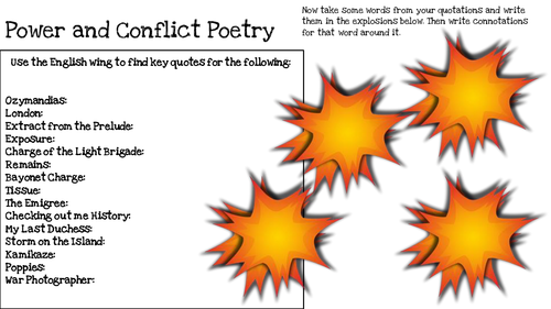 Power and Conflict Quotation Revision