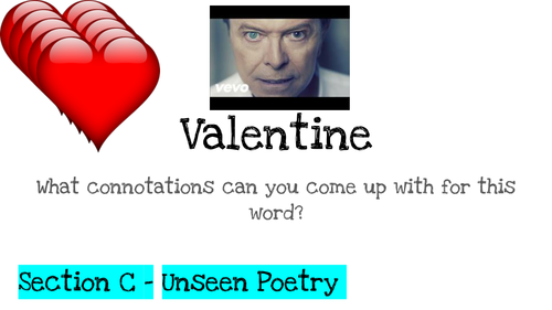 Step-by-Step Unseen Poetry Valentine and They did not Expect This