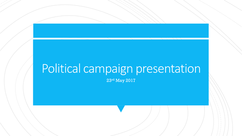 Series of lessons based on the General election