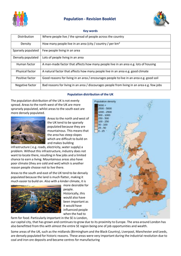 KS3 Population Revision Booklet
