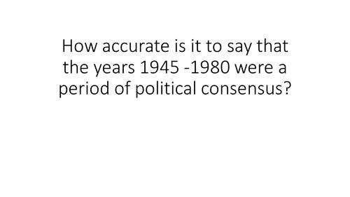 Consensus 1945 - 1980
