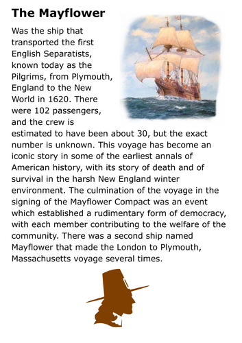The Mayflower Handout