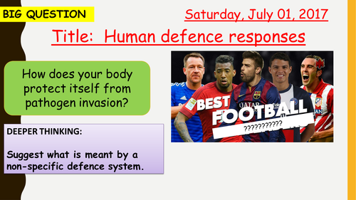 AQA new specification-Human defence response-B5.9