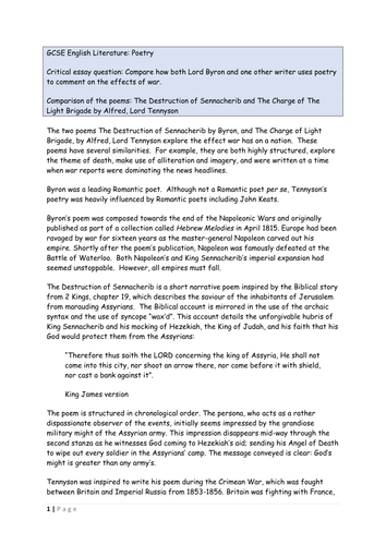 write gcse english poetry essay Hi, i'm doing as english lit at the moment and got an a for english lang & lit gcse the one big tip i was given is not to talk about the poems one at a time directly link and compare the poems throughout.