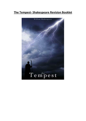 The Tempest Revision Booklet Shakespeare