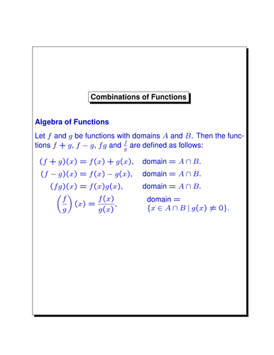Overhead Slides from various Pure Math Topics