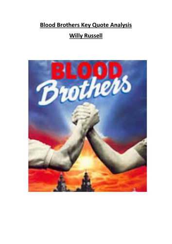 Blood Brothers Key Quotes Analysis
