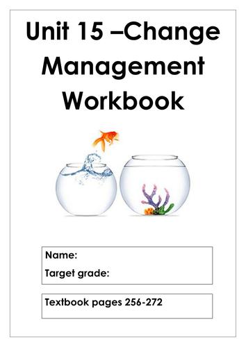 L3 Cambridge Technicals Business Studies Unit 15 Change Management workbook