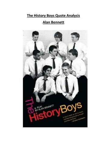 The History Boys Key Quotes Analysis