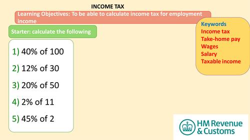 Income Tax lesson