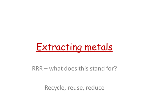 Extracting metals - phytomining and bioleaching