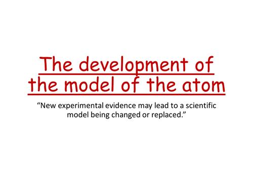 Development of the model of the atom