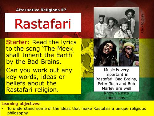 Rastafarianism (or Rastafari) - Alternative Relgion