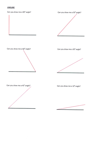 Drawing Angles Practice