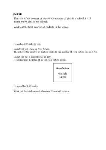 Ratio New GCSE Questions