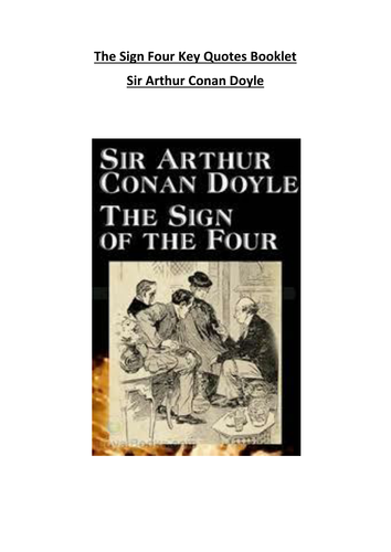 The Sign of Four Key Quotes Booklet