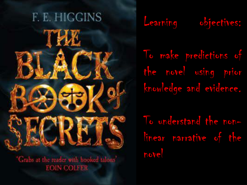 Black Book of Secrets scheme of work, lesson PPTs and resources